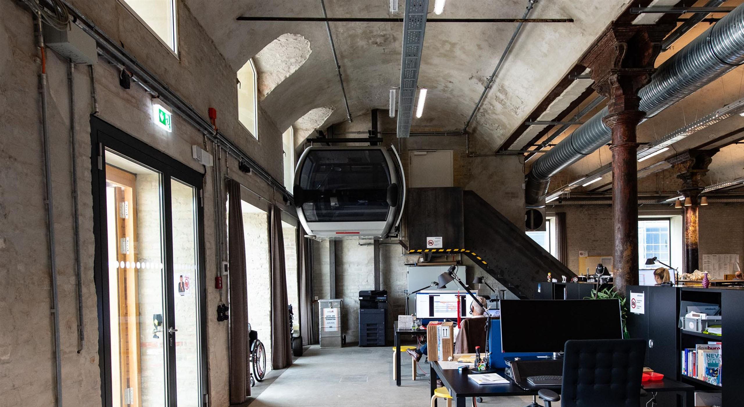 Innenansicht der ehemaligen Bötzow-Brauerei Berlin nach Sanierung © Bernd Blumrich