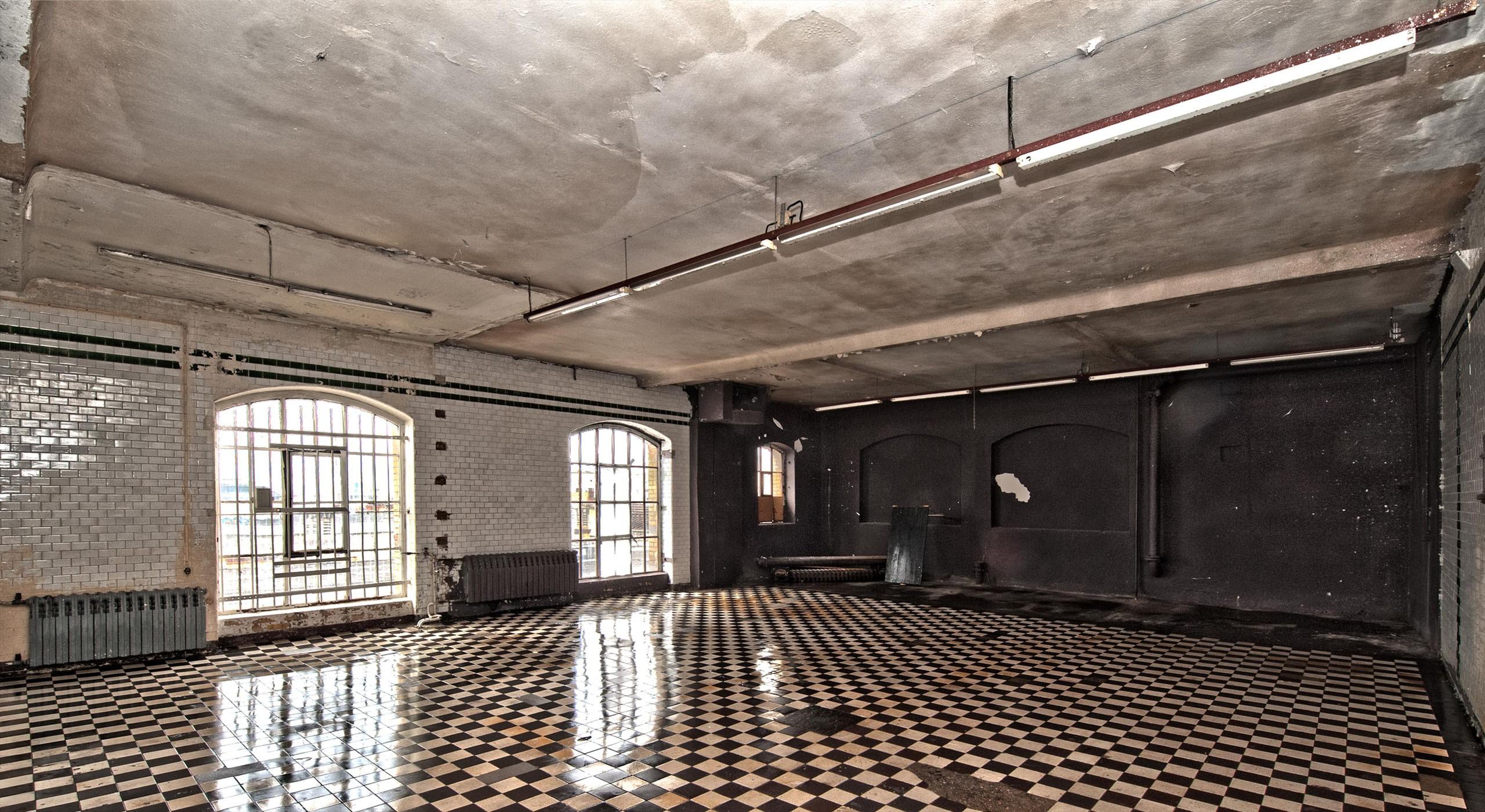 Innenansicht der ehemaligen Bötzow-Brauerei Berlin während Sanierung © Bernd Blumrich